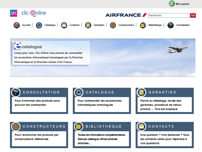 Visuel du site AFC AIR FRANCE