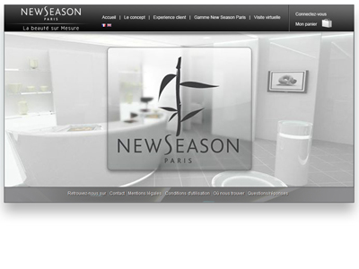 Visuel du site la boutique New season Paris
