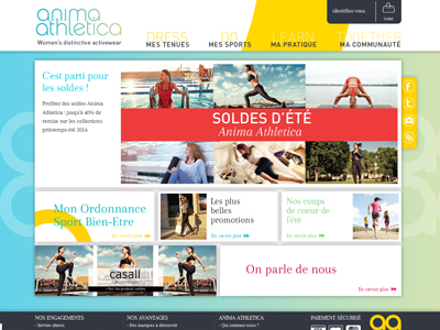 Visuel du site Anima Athletica