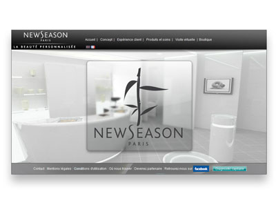 Visuel du site New Saeson Paris