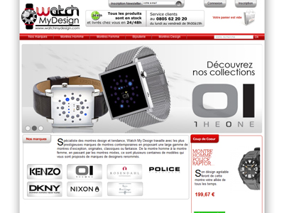Visuel du site Watch My Design