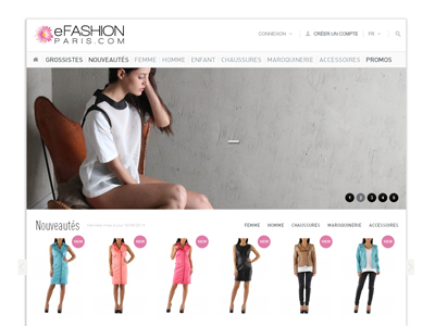 Visuel du site eFashion Paris