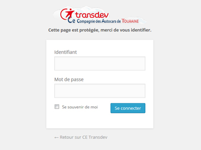 Visuel page d'indentification Transdev