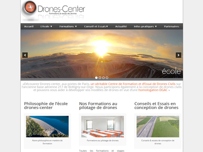 Visuel du site Drones Center