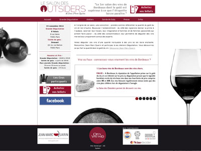 Visuel du site Salon des Outsiders