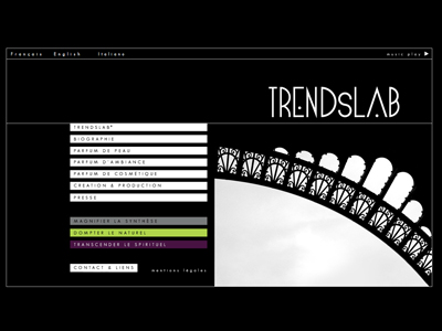 Visuel du site Trends Lab